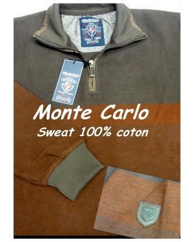 Sweat Col Zippe Monte Carlo