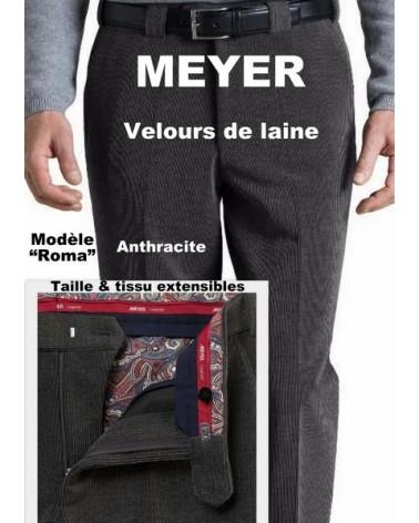 Pantalon Meyer Roma Velours De Laine
