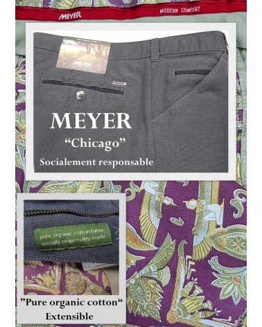 "PANTALON MEYER ""CHICAGO"" COTON BIO"