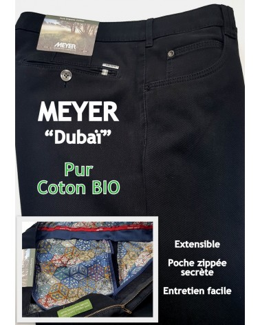 "PANTALON MEYER ""DUBAÏ"" PUR COTON BIO"