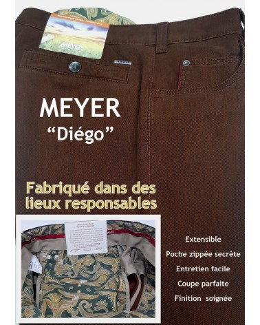 "PANTALON MEYER ""DIEGO"" SOCIALEMENT RESPONSABLE"