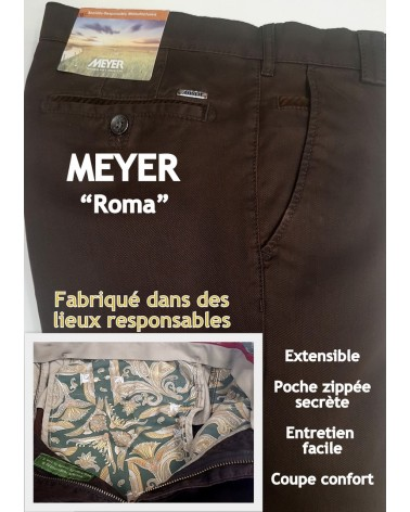 "PANTALON MEYER ""ROMA"" SOCIALEMENT RESPONSABLE"