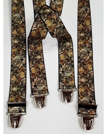 Bretelles Made In France camo feuilles